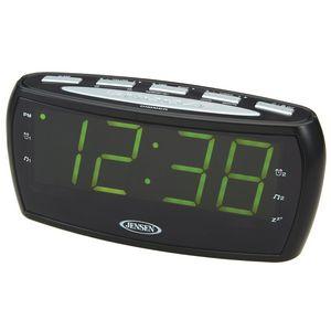 jensen am fm alarm clock radio jcr208a ideastage promotional products. Black Bedroom Furniture Sets. Home Design Ideas