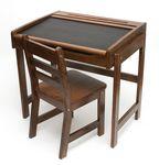 Custom Child's Desk w/ Chalkboard & Chair (Walnut Finish)