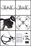 Custom Prowler Spy Drone Video Camera & Photo 2.4 Ghz. Remote Control Quadcopter