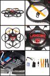 Custom Lancer SPY Drone UFO VIDEO CAMERA 2.4 Ghz. Remote Control Quadcopter
