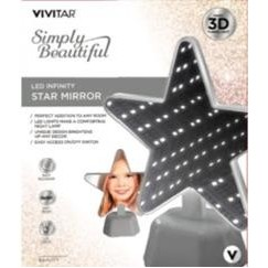 Vivitar® LED Infinity Gray Star Shaped Vanity Mirror