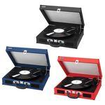 Custom Jensen Portable 3-Speed Stereo Turntable w/ Built-in Speakers