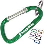 Custom Aluminum Carabiner with Key Ring - 6 Cm