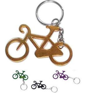 Bicycle Aluminum Bottle Opener with Keychain