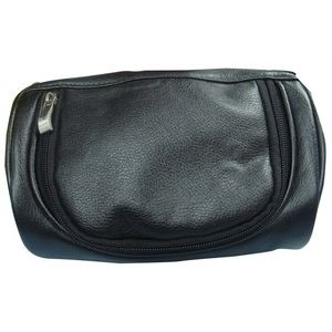 ** Small Cosmetic bag black, nylon and simuleather