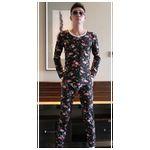 Custom Premium Stripe thickening pajamas