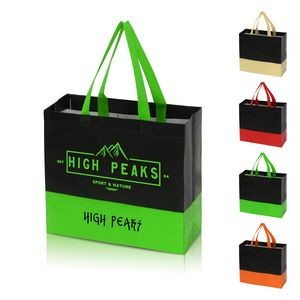 Non-Woven Two-Toned Coating Tote Bag
