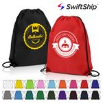 Custom Classic Polyester Drawstring Backpacks
