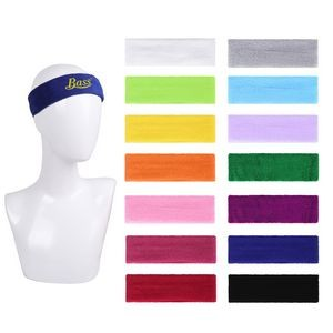 Embroidered Terry Sports Headband