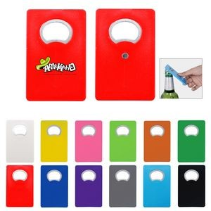 Card Sized Bottle Opener With Fridge Magnets