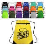 Custom Polyester Zippered Drawstring Backpack