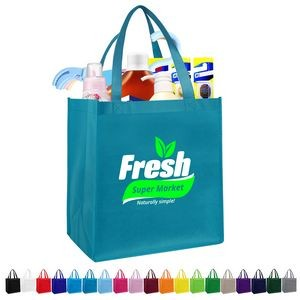 Non-woven Grocery Tote Bags (12'' x 13'' x 8'')