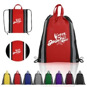 Non-Woven Reflective Drawstring Backpack
