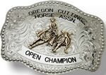 Custom Rectangular Custom Trophy Buckle w/ Dotted Trim