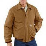 Custom Men's Carhartt Flame-Resistant Lined Cotton Duck Bomber Jacket