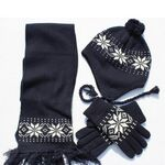 Custom Hat, Scarf, Glove Set Snowflake Pattern