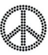 Custom HotFix Transfer Designs - Peace Symbol