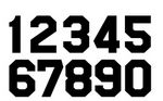 Custom Pre-Cut Pro Block Numbers Vinyl (10 Pack) 6