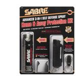 Custom Sabre 3-in-1 Home & Away Self Defense Pepper Spray Kit w/Keychain