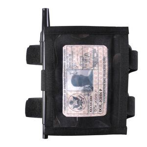Black Military Style Armband ID Holder