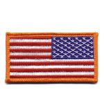 Custom Reverse American Flag Patch w/ Hook Back