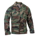 Custom Woodland Camouflage Rip-Stop B.D.U. Shirts (XS to XL)