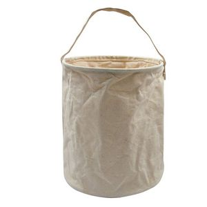 Large Natural Beige Canvas Water Bucket