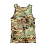 Custom Woodland Camo Tank Top (S to XL)