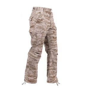 Desert Digital Camouflage Vintage Paratrooper Military Fatigue Pants (2XL)