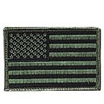 Custom Reversed Subdued US Flag Embroidered Military Patch