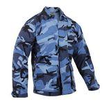 Custom Sky Blue Camo Battle Dress Uniform Shirt (XS to XL)