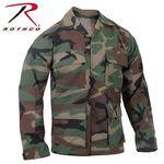 Custom Woodland Camouflage Rip-Stop B.D.U. Shirts (M, L, XL Long Length)