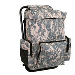 Custom A.C.U. Digital Camo Backpack & Stool Combination