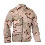 Custom Tri-Color Desert Camo Poly/Cotton Twill Battle Dress Uniform Shirt (S to XL)