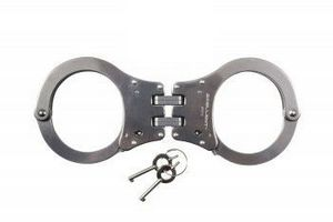 NIJ Approved Stainless Steel Hinged Handcuffs