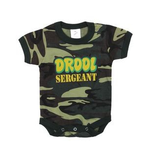 Infant Woodland Camo 'Drool Sergeant' One Piece Body Suit