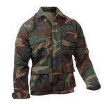 Custom Woodland Camouflage Tactical B.D.U. Shirts (3XL)