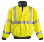 Custom Premium ANSI Class 3, Four-Way Original High Visibility Safety Bomber Jacket
