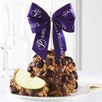 Custom Double Chocolate Peanut Butter Almond Jumbo Caramel Apple Gift