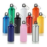 Custom 20 Oz. Aluminum Sports Bottle W/ Matching Color Carabiner (3 Days)