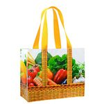 Custom Custom Pre-Design Laminated Fruits/Vegetables Grocery Tote Bag