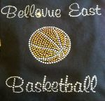 Custom Bellevue East Rhinestone Heat Transfer (can be customized)