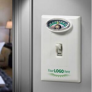 Switch Plate Energy Saver Wall Plate Room Thermometer