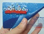 Custom 30 Mil. Mirror Sheen Plastic Gift Card