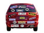 Custom Large Format Full Color Bumper Stickers - Cut Shaped (8