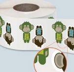 Custom Full Color Semi Gloss Paper Custom Shaped Roll Indoor Use Stickers (2