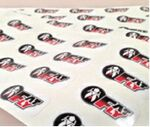 Custom Contour Cut Large Format Indoor/ Outdoor Stickers (16 to 20 Square Inch)
