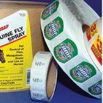 Custom Full Color Semi Gloss Paper Custom Shaped Roll Indoor Use Stickers (3