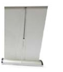 Custom Large Mini Retractable Line Table Top Banner Stand w/ Double Sided Banner