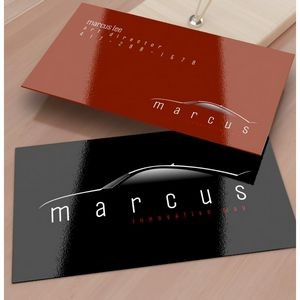 14 Point Business Card w/ 1 Side UV In 4/4 Full Color
